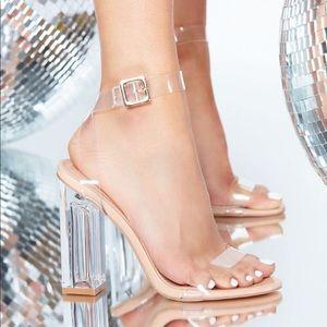 Clear transparent heels